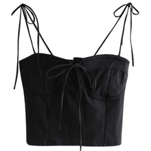 Load image into Gallery viewer, Faye Ribbon Tie Bustier Top *