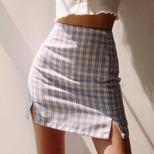 Load image into Gallery viewer, Josie High Waist Plaid Skirt in White