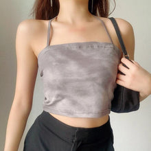 Load image into Gallery viewer, Edna Two-piece Ribbon Tie Top + Long Sleeve Top Set in Washed Grey*