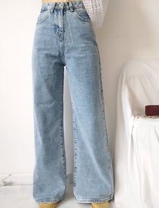 Teala Washed Straight Leg Jeans
