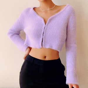 Ola Long Sleeve Top in Purple*