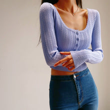 Load image into Gallery viewer, Diana Long Sleeve Top in Purple-Blue *