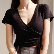 Load image into Gallery viewer, Fiela Ruched Top in Black *