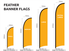 Load image into Gallery viewer, Used Cars Feather Flag Set $121.00