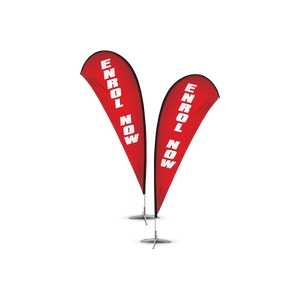 Enrol Now Banner Flag Set $108.00