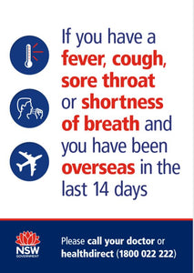 NSW Gov 'If You Have a Fever'