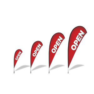 Open Banner Flag Set $108.00