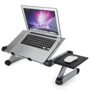 Portable Adjustable Aluminum Laptop Desk with Ergonomic Design (Mouse Pad Included)