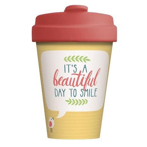 BambooCup* drinkbeker Beautiful Smile - 400ml