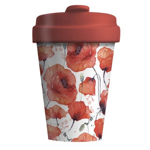 BambooCup* drinkbeker Poppy Flowers - 400ml