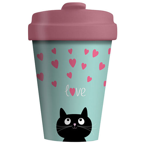 BambooCup* drinkbeker Kitty Love - 400ml