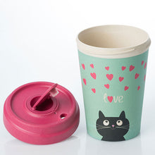 Afbeelding in Gallery-weergave laden, BambooCup* drinkbeker Kitty Love - 400ml