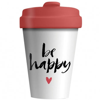 BambooCup* drinkbeker Happy Calligraphy - 400ml