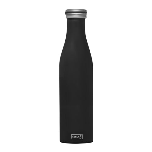 Grote thermosfles - Mat Zwart - 750ml