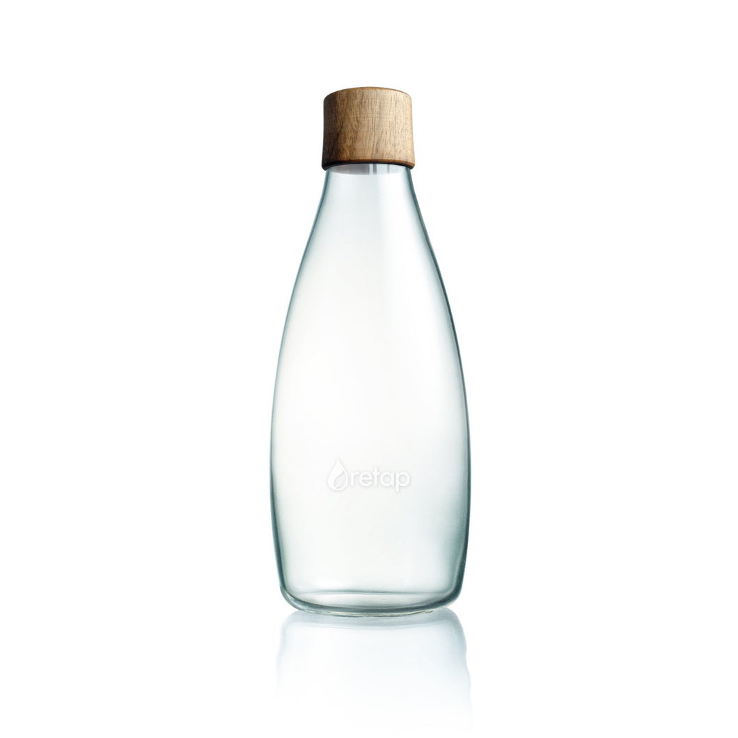 Retap waterfles Hout - 800ml