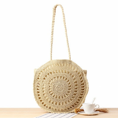 Round Design Straw Bag