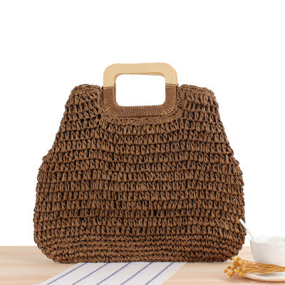 Hand-held Straw Bag