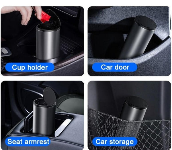 Car Alloy Trash Bin Can