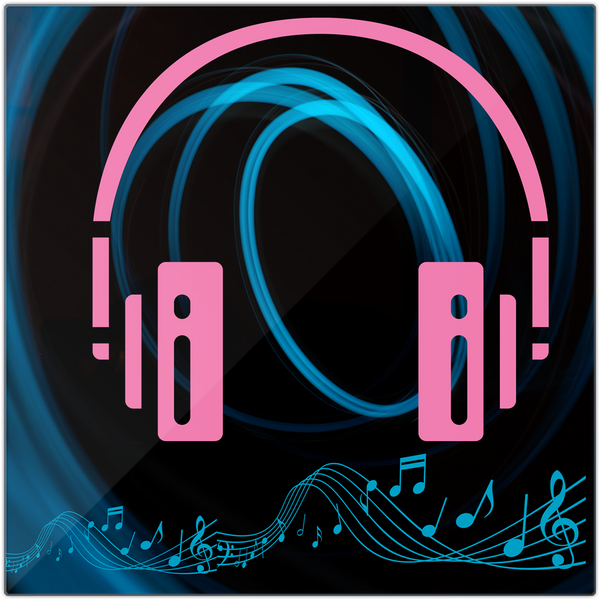 Headphone design Metal Print