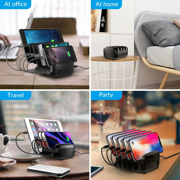 USB Charger Station Dock with Holder