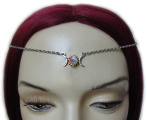 Triple Moon Goddess Filigree Headpiece