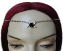 Load image into Gallery viewer, Triple Moon Goddess Filigree Headpiece