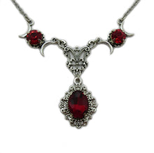 Load image into Gallery viewer, Triple Moon Goddess Filigree Necklace