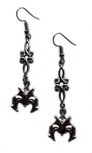 Load image into Gallery viewer, Bat Scroll Earrings