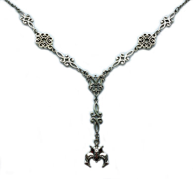 Bat Scroll Necklace