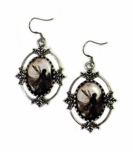 Fairy Cameo Earrings & Pendant Set
