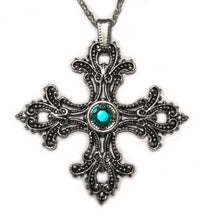 Load image into Gallery viewer, Filigree Cross Pendant