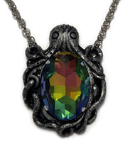 Load image into Gallery viewer, Steampunk Cthulhu Octopus Frame Pendant