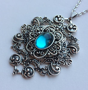 Large Filigree Scroll Pendant