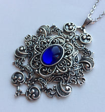 Load image into Gallery viewer, Large Filigree Scroll Pendant