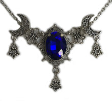 Load image into Gallery viewer, Moon & Star Filigree Necklace