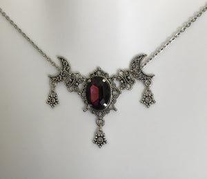 Moon & Star Filigree Necklace