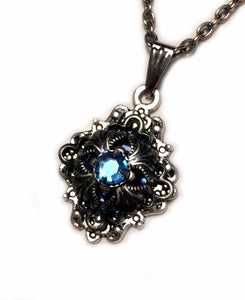 Small Gothic Filigree Caged Pendant