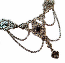 Load image into Gallery viewer, Dramatic Filigree Draping Chain Necklace
