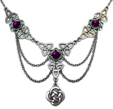 Load image into Gallery viewer, Celtic Trinity Knot Draping Chain Necklace