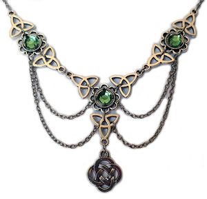 Celtic Trinity Knot Draping Chain Necklace