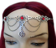 Load image into Gallery viewer, Celtic Trinity Knot Draping Chain Circlet