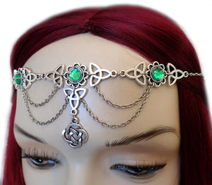 Celtic Trinity Knot Draping Chain Circlet