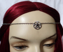 Load image into Gallery viewer, Small Pentacle Priestess Headpiece