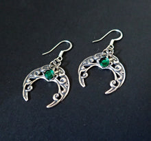 Load image into Gallery viewer, Celtic Crescent Moon Earrings