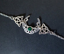 Load image into Gallery viewer, Celtic Crescent Moon Circlet