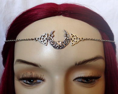 Celtic Crescent Moon Circlet