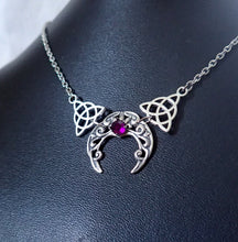 Load image into Gallery viewer, Celtic Crescent Moon Necklace