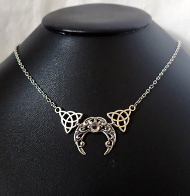 Celtic Crescent Moon Necklace