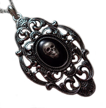 Load image into Gallery viewer, Large Silver Framed Cameo Pendant