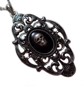 Large Silver Framed Cameo Pendant